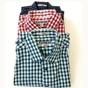 Express Button Up Shirts Bundle of 3 Sz Small 14